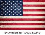 grunge usa flag. american flag... | Shutterstock . vector #643356349