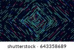 motion futuristic abstract... | Shutterstock .eps vector #643358689