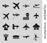 jet icons set. set of 16 jet... | Shutterstock .eps vector #643364761