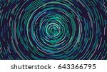 colored rotating rings ... | Shutterstock .eps vector #643366795