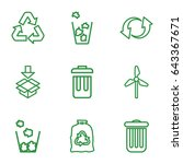 recycle icons set. set of 9... | Shutterstock .eps vector #643367671