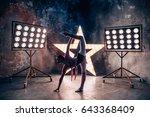 ballet dancer practice exercise ... | Shutterstock . vector #643368409