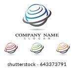 wire world logo template | Shutterstock .eps vector #643373791