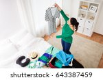 tourism  people and luggage... | Shutterstock . vector #643387459
