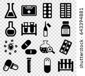 drug icons set. set of 16 drug... | Shutterstock .eps vector #643394881