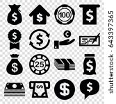 currency icons set. set of 16... | Shutterstock .eps vector #643397365