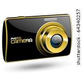 vector photo camera 3  black... | Shutterstock .eps vector #64340257
