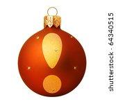 red christmas ball with a letter | Shutterstock . vector #64340515