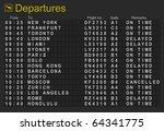 split flap mechanical... | Shutterstock . vector #64341775