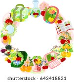 the frame that is made with... | Shutterstock .eps vector #643418821