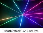 lights show. lazer show. night...   Shutterstock . vector #643421791