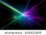 lights show. lazer show. night... | Shutterstock . vector #643421839