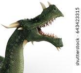 Green Dragon 3d Illustration