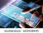 business  people  mass media... | Shutterstock . vector #643428445
