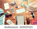 vacation  tourism  technology...   Shutterstock . vector #643429321