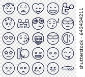 character icons set. set of 25... | Shutterstock .eps vector #643434211