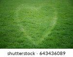 green grass heart background | Shutterstock . vector #643436089