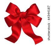 Red Satin Gift Bow. Ribbon....