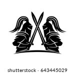 knights with swords.   Shutterstock .eps vector #643445029