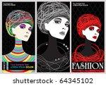 vector elegant fashion banners | Shutterstock .eps vector #64345102