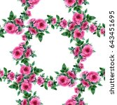 colorful vintage pattern with... | Shutterstock . vector #643451695