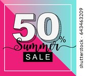 summer sale banner with duotone ... | Shutterstock .eps vector #643463209