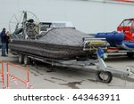 Small photo of PERM, RUSSIA-APRIL 14, 2017: Aerology without a cabin on a trailer for transportation. Russia. Perm.