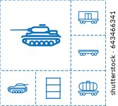 tank icon. set of 6 tank... | Shutterstock .eps vector #643466341