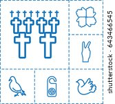 peace icon. set of 6 peace... | Shutterstock .eps vector #643466545