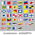 international maritime signal... | Shutterstock .eps vector #643469974
