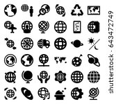 planet icons set. set of 36... | Shutterstock .eps vector #643472749