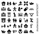 family icons set. set of 36... | Shutterstock .eps vector #643476247