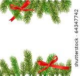 xmas tree branches. vector | Shutterstock .eps vector #64347742