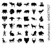 mammal icons set. set of 36... | Shutterstock .eps vector #643477927