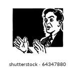 public speaking   retro clipart ... | Shutterstock .eps vector #64347880