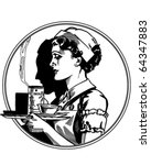 nurse icon   retro clipart... | Shutterstock .eps vector #64347883