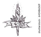 vector cigarette with marijuana ... | Shutterstock .eps vector #643486369