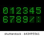 digital numbers. point... | Shutterstock .eps vector #643495561