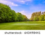 city park. panorama of a... | Shutterstock . vector #643498441