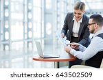 contemporary economists making... | Shutterstock . vector #643502509