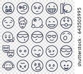 facial icons set. set of 25... | Shutterstock .eps vector #643505995