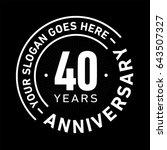 40 years anniversary logo... | Shutterstock .eps vector #643507327
