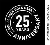 25 years anniversary logo...   Shutterstock .eps vector #643507339