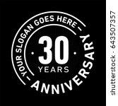 30 years anniversary logo... | Shutterstock .eps vector #643507357