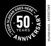 50 years anniversary logo... | Shutterstock .eps vector #643507369