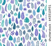 seamless pattern with colored... | Shutterstock .eps vector #643510951