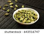 aromatic spice fresh green... | Shutterstock . vector #643516747