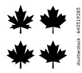 maple leaf vector icon on white ... | Shutterstock .eps vector #643519285