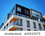 modern apartment buildings... | Shutterstock . vector #643519375