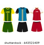 vector football uniform on... | Shutterstock .eps vector #643521409